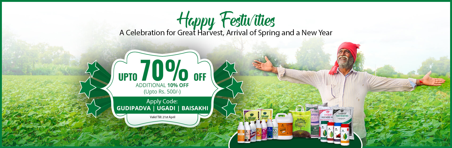 Baisakhi Gudi Padva and Ugadi Festival - Upto 70% off + Additional 10% off (upto Rs. 500)